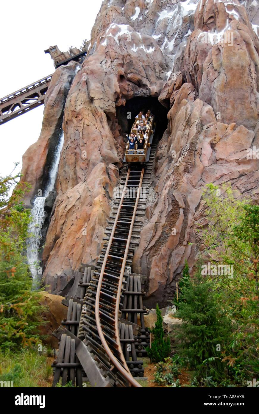 Expedition everest roller coaster at the animal kingdom park at disney world theme park orlando florida fl