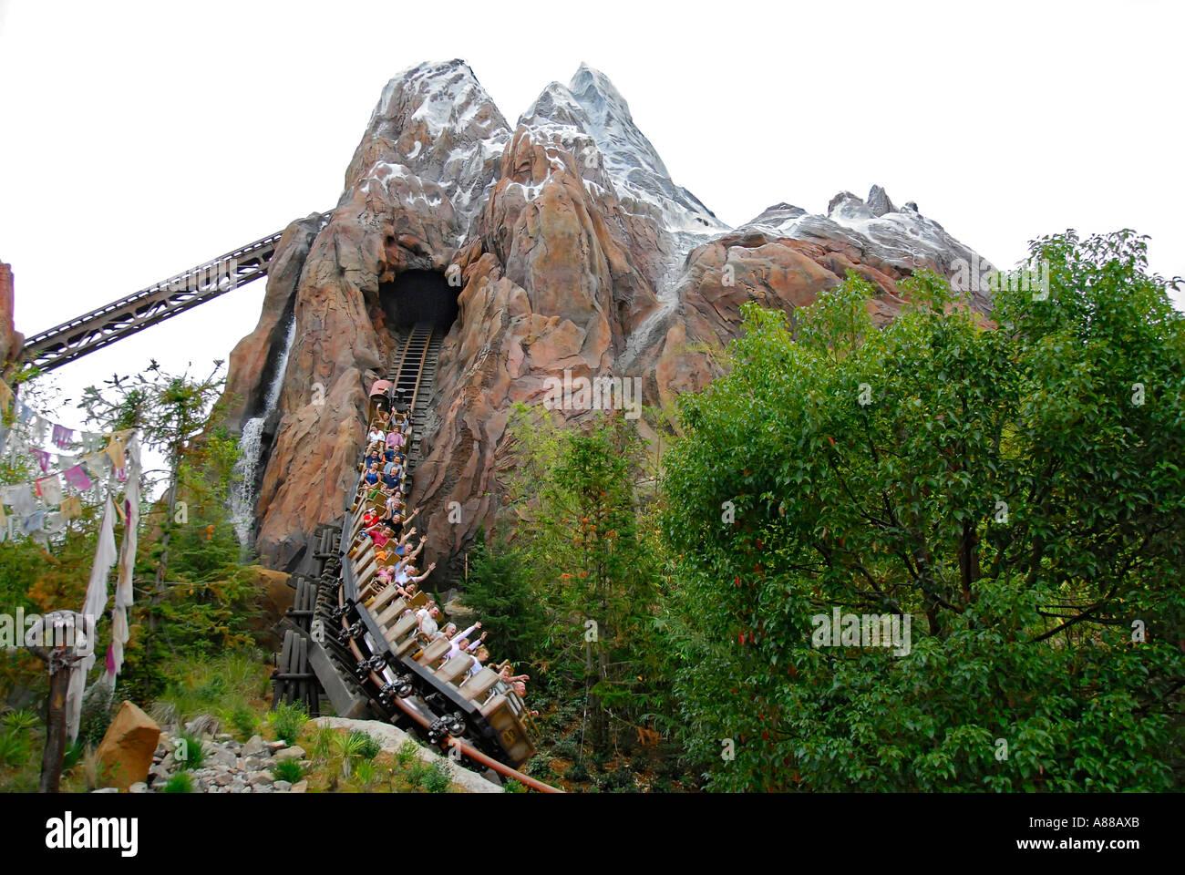 Expedition everest roller coaster at the animal kingdom park at disney world theme park orlando florida