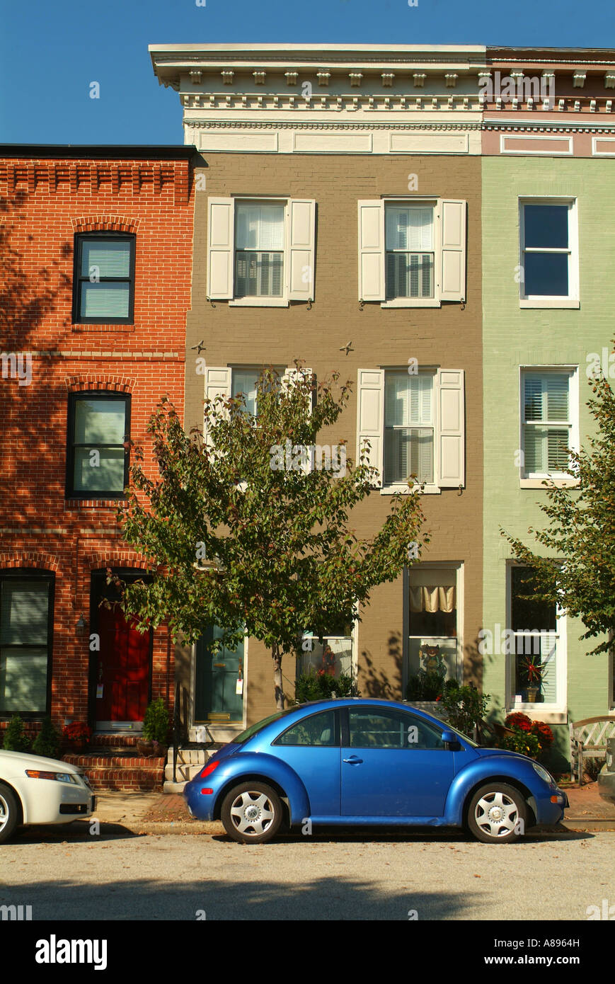 Row Houses In Baltimore Md : Usa maryland baltimore row houses of federal hill stock