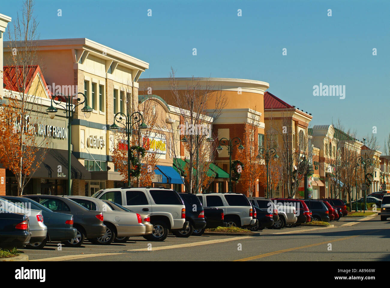 Usa Maryland Bowie Town Center Shopping Mall Stock Photo