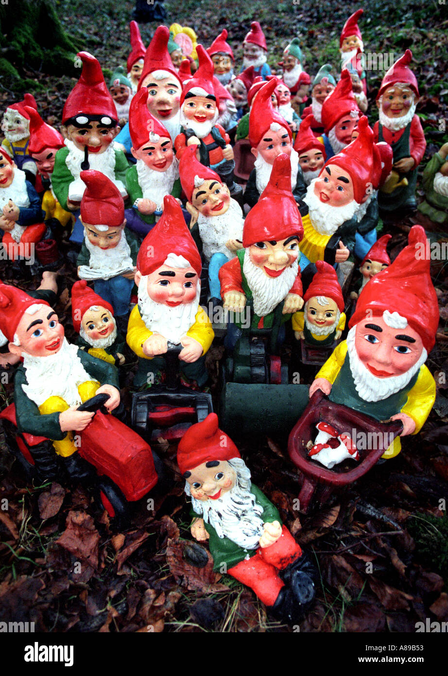 An Army Of Garden Gnomes   Stock Image