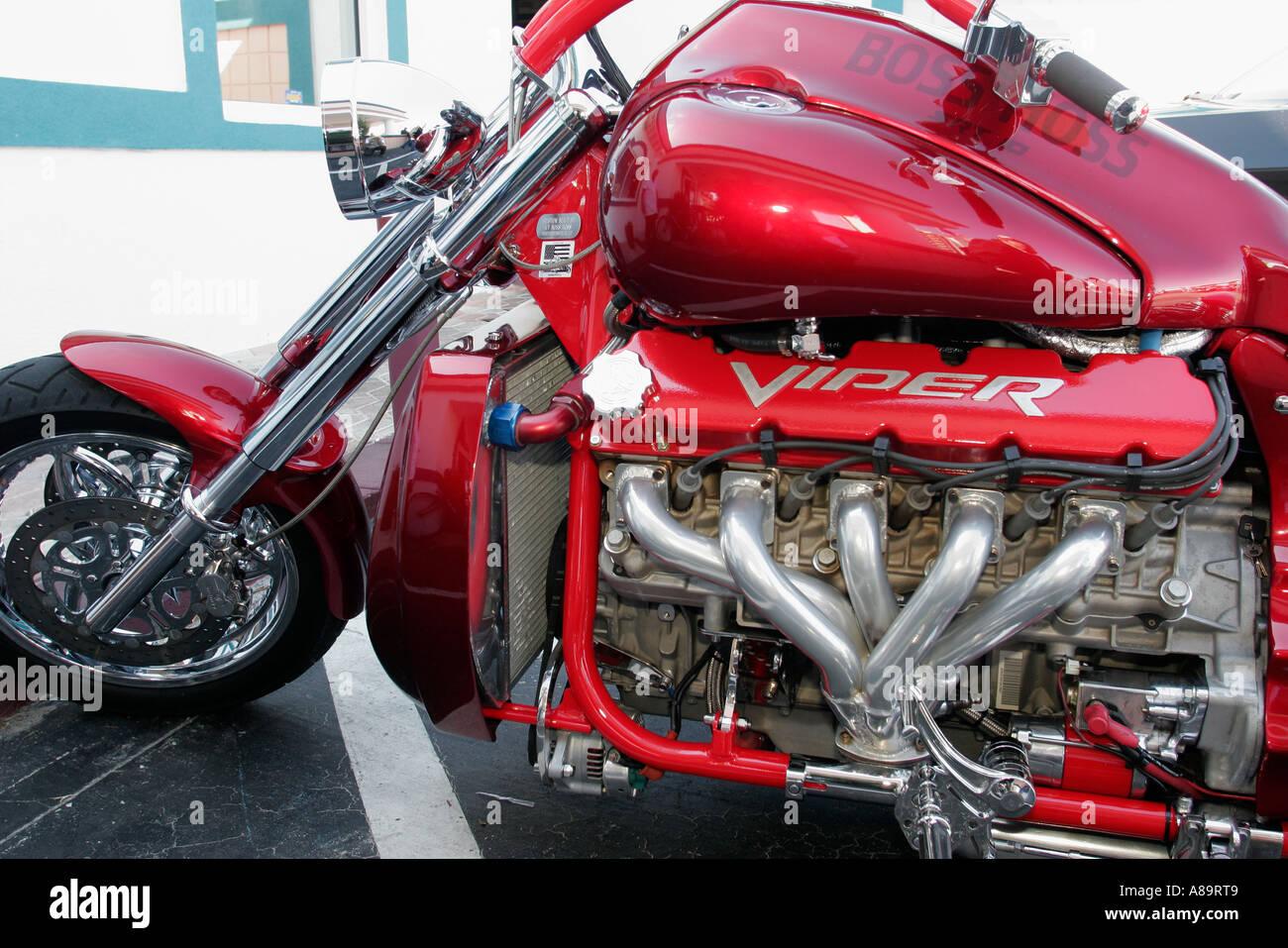 South County Dodge >> Daytona Beach Florida A1A Bike Week Boss Hoss Dodge Viper V 10 engine Stock Photo: 6876872 - Alamy