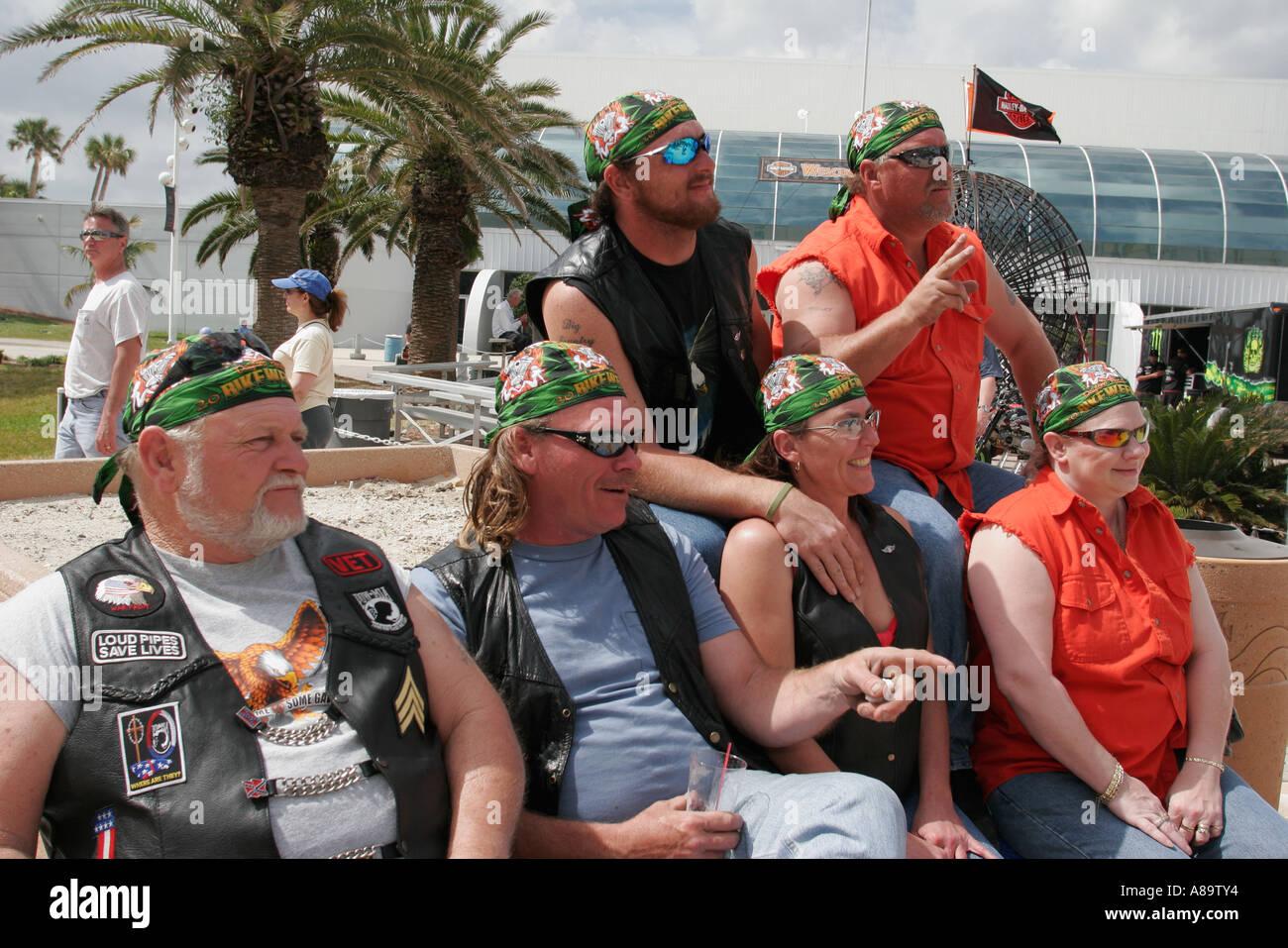 Daytona Beach Florida A1a Bike Week Ocean Center Mature Adult