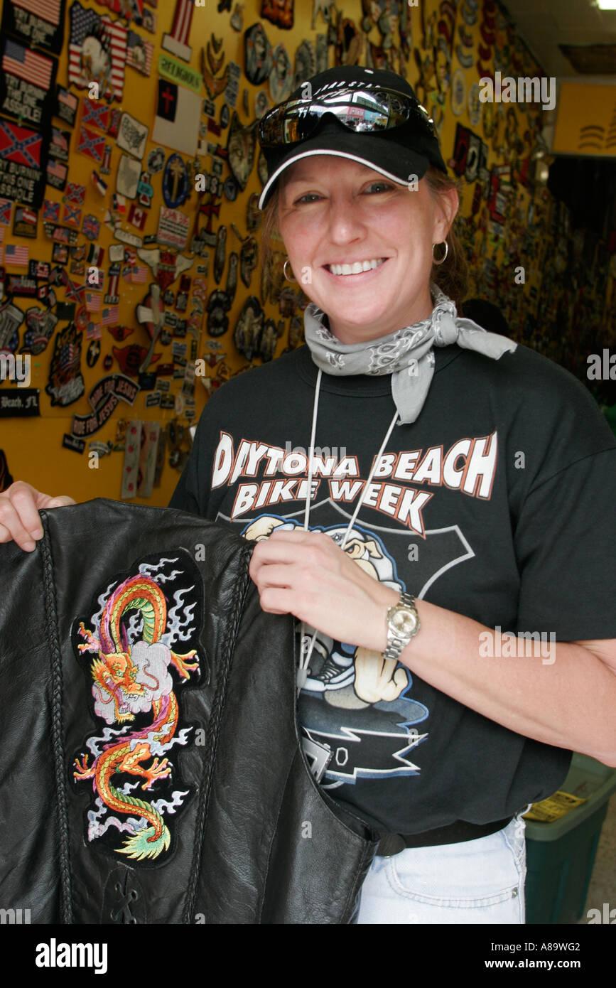 Daytona Beach Florida Main Street Bike Week Female Embroidered