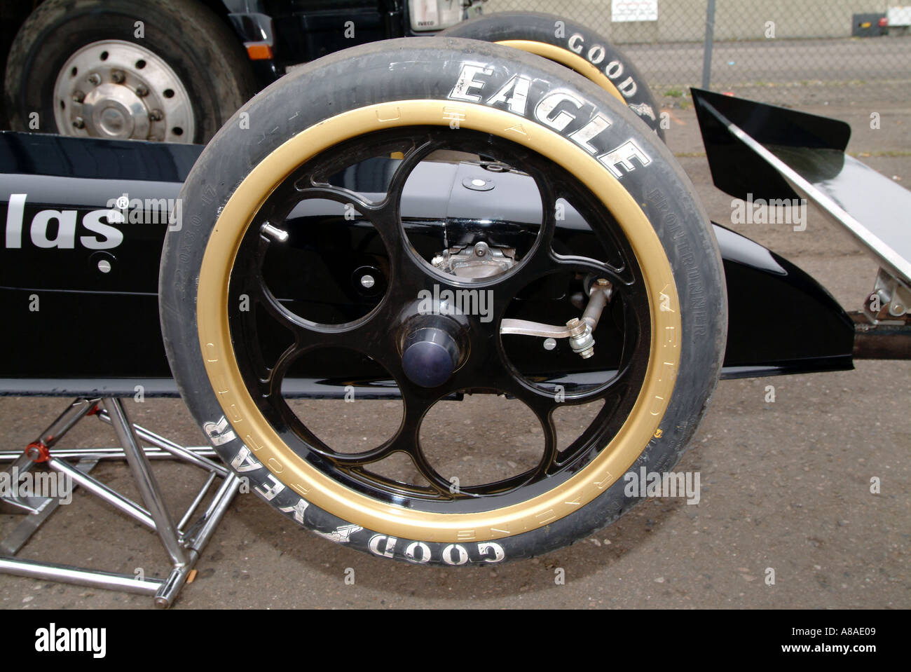 front wheels and wing on a top fuel dragster skinny dragster wheel stock photo royalty free. Black Bedroom Furniture Sets. Home Design Ideas