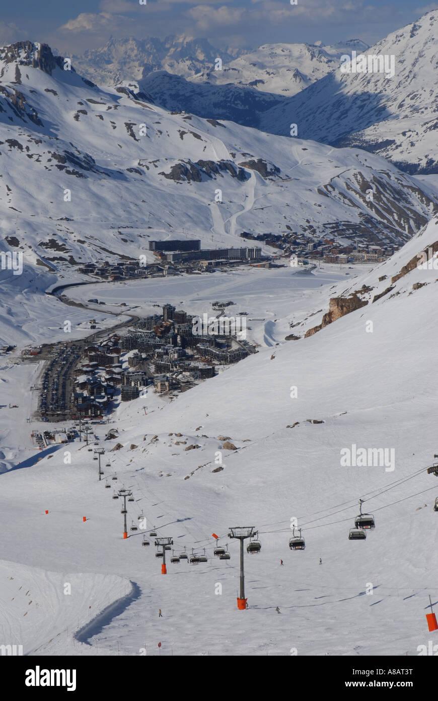 Ski resort Tignes Val dIsere Piemonte France Stock Photo