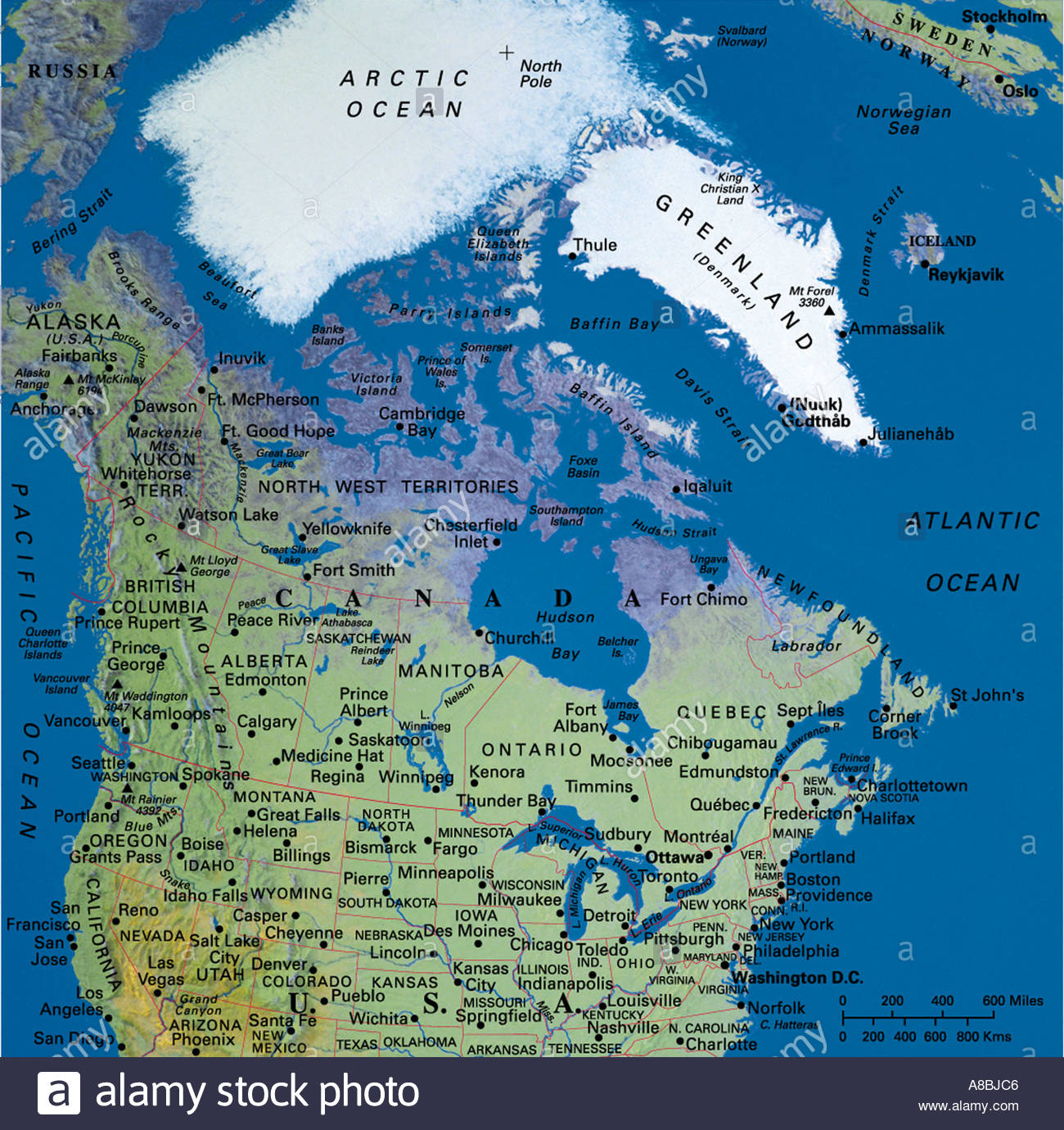 Globe Map Maps Arctic North Pole Alaska Sibiria Canada Bering - Map of canada and alaska