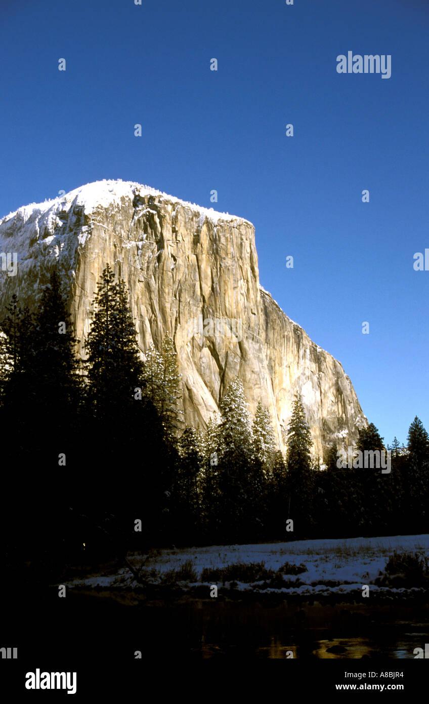 california yosemite valley view of el capitan stock photo, royalty