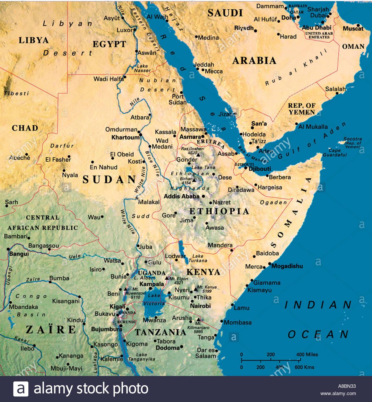 map maps africa saudi arabia stock photo royalty free image