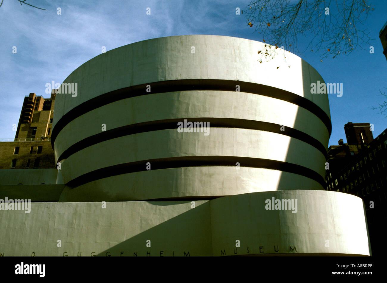 Modern Architecture New York new york manhattan guggenheim museum modern architecture stock