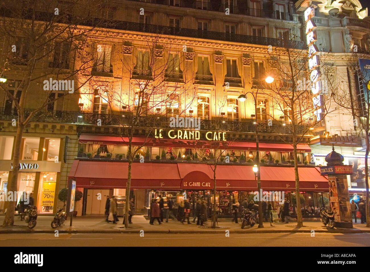 Paris France Le Grand Cafe Bd de Capucines Stock Photo, Royalty ...