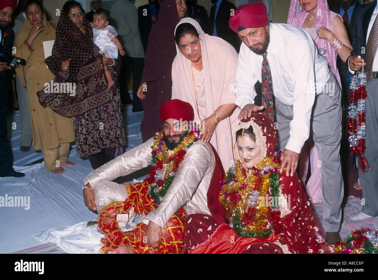 Sikh Wedding London Stock Photos