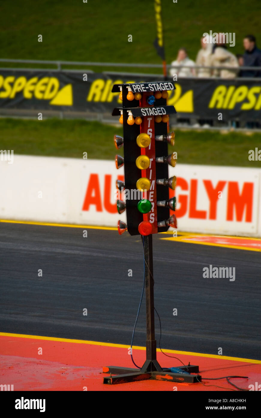 Starting Christmas Tree lights for Drag Racing Stock Photo ...