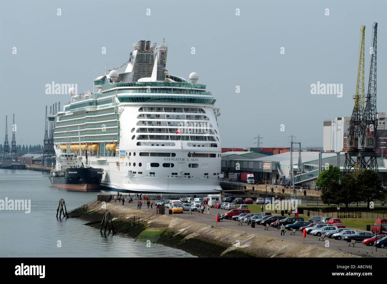 Port Of Southampton Navigator Of The Seas Cruise Ship Alongside - Southampton cruise ship parking