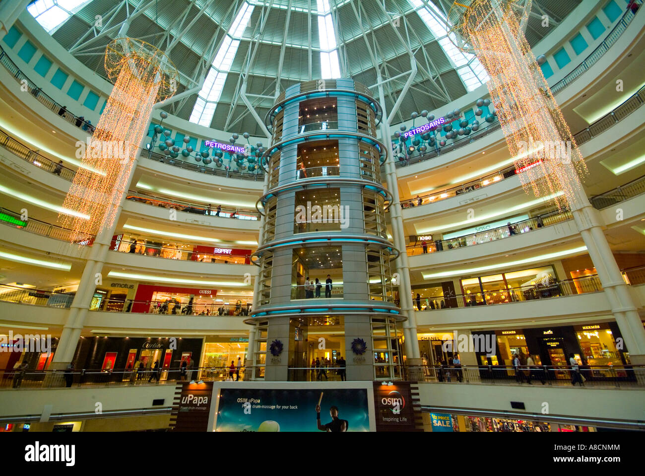 Interior Of Shopping Centre At The Petronas Towers In Kuala Lumpur