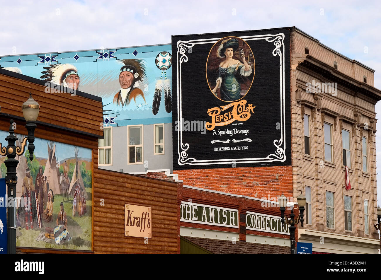 toppenish stock photos toppenish stock images alamy wall mural in toppenish washington a town in central washington known for is colorful historical murals