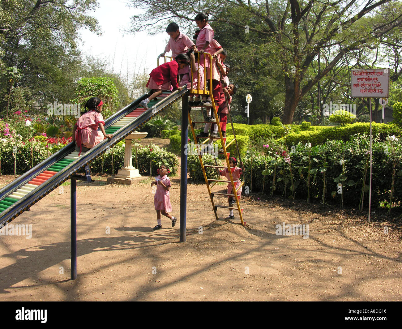 NMJ98652 School Children Playing at a Children Park Pune ...