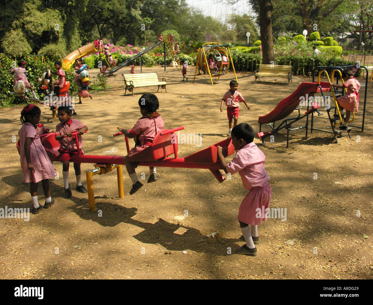 NMJ98658 School Children Playing at a Children Park Pune ...