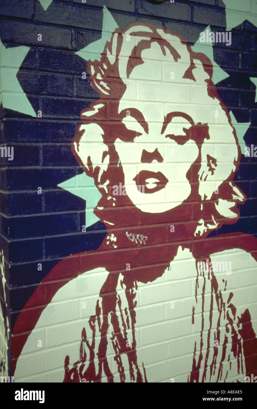 Marilyn Monroe Wall Mural On Grand Avenue. St Paul Minnesota USA Part 68