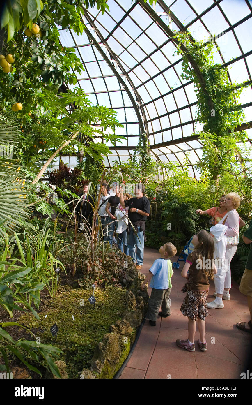 Chicago illinois path in palm house at lincoln park for Indoor botanical gardens