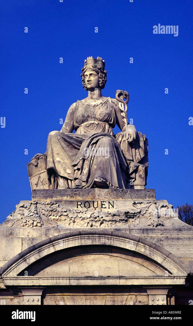 One of eight statues representing French cities in the Place de la ...
