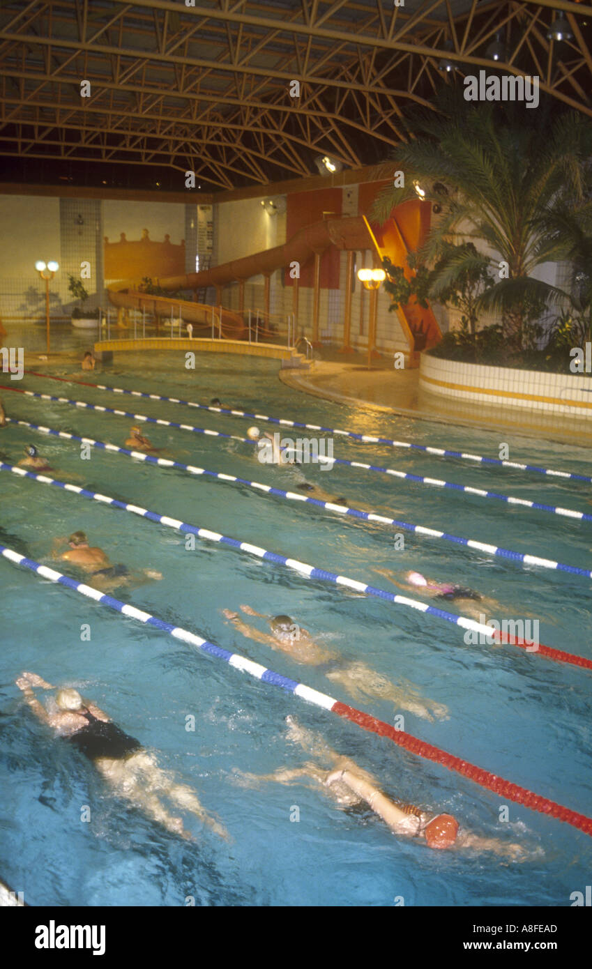 England East Sussex King Alfred Leisure Centre Swimming Pool Training Stock Photo Royalty Free