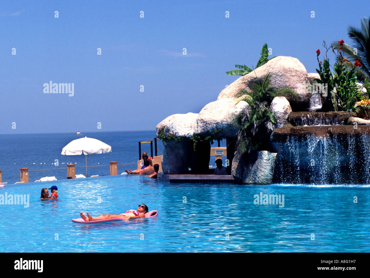 Puerto vallarta mexico mexican hotel swimming pool bath - Hotels in bath with swimming pool ...