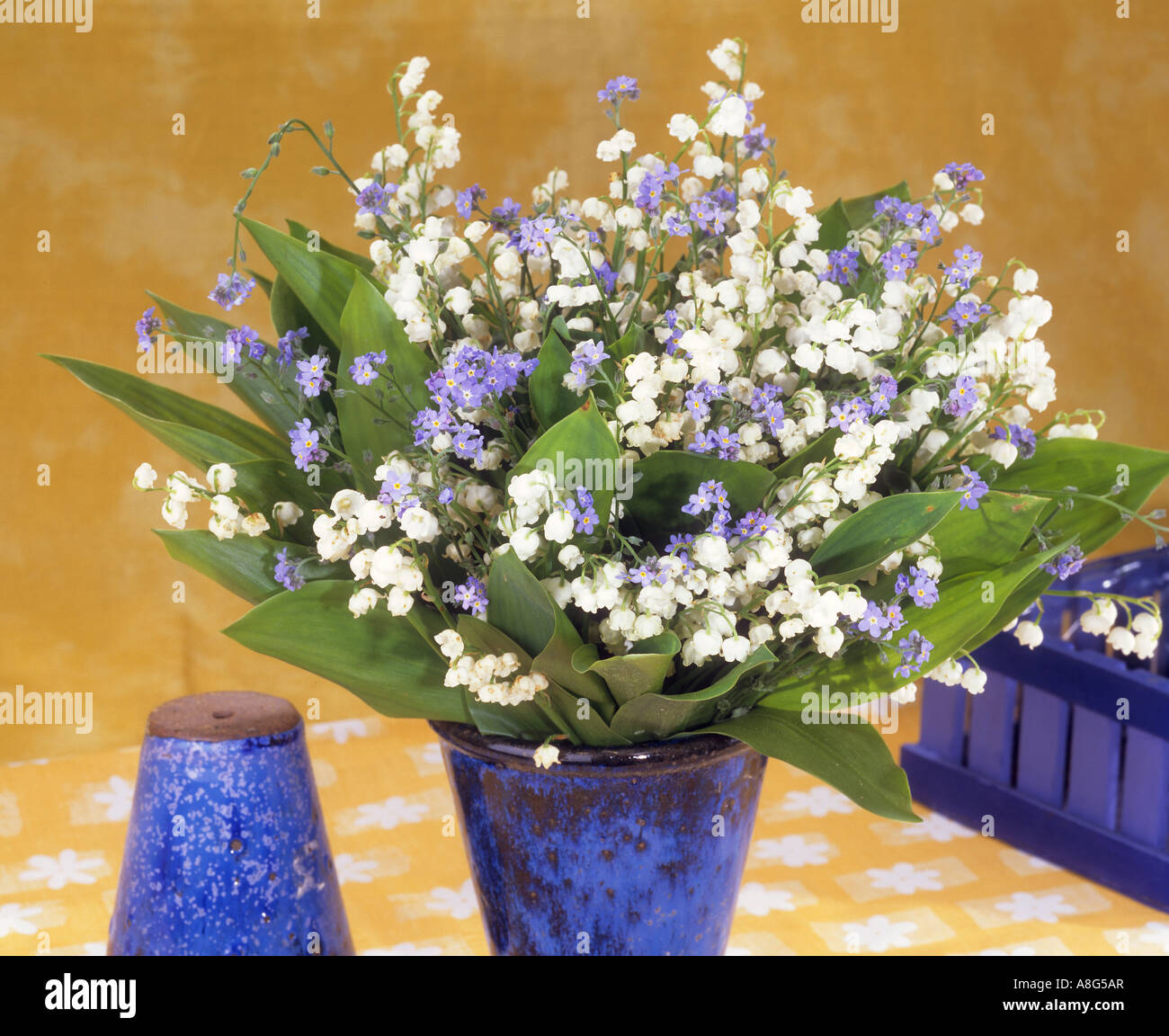 Bouquet with lily of the valley and forget me not stock photo bouquet with lily of the valley and forget me not reviewsmspy