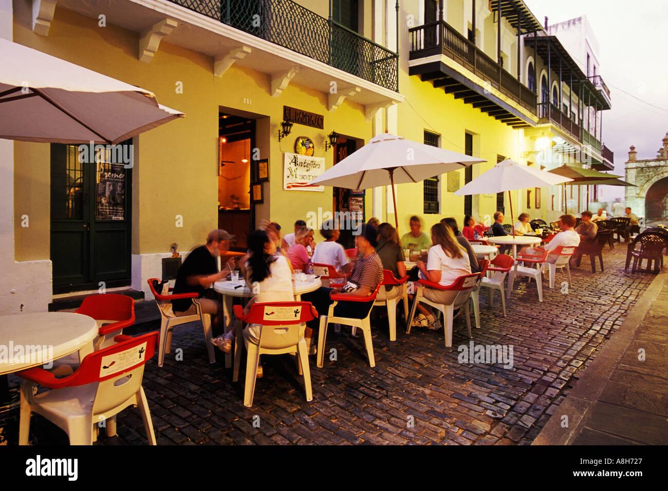 Puerto rico san juan outdoor cafe calle del cristo