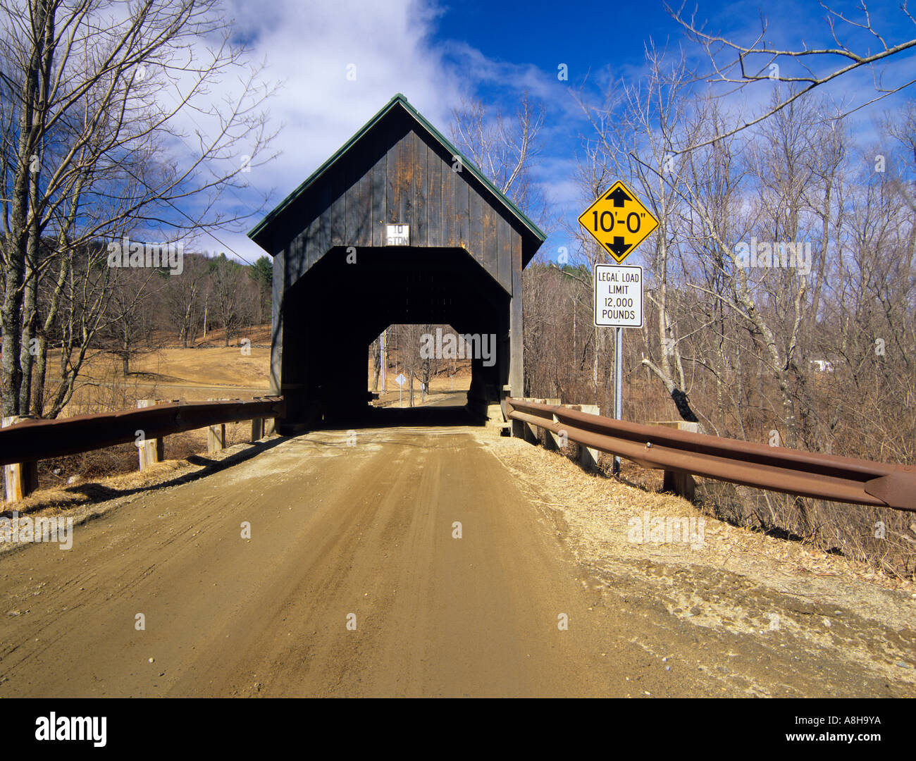 Bowers Or Brownsville Covered Bridge Located In