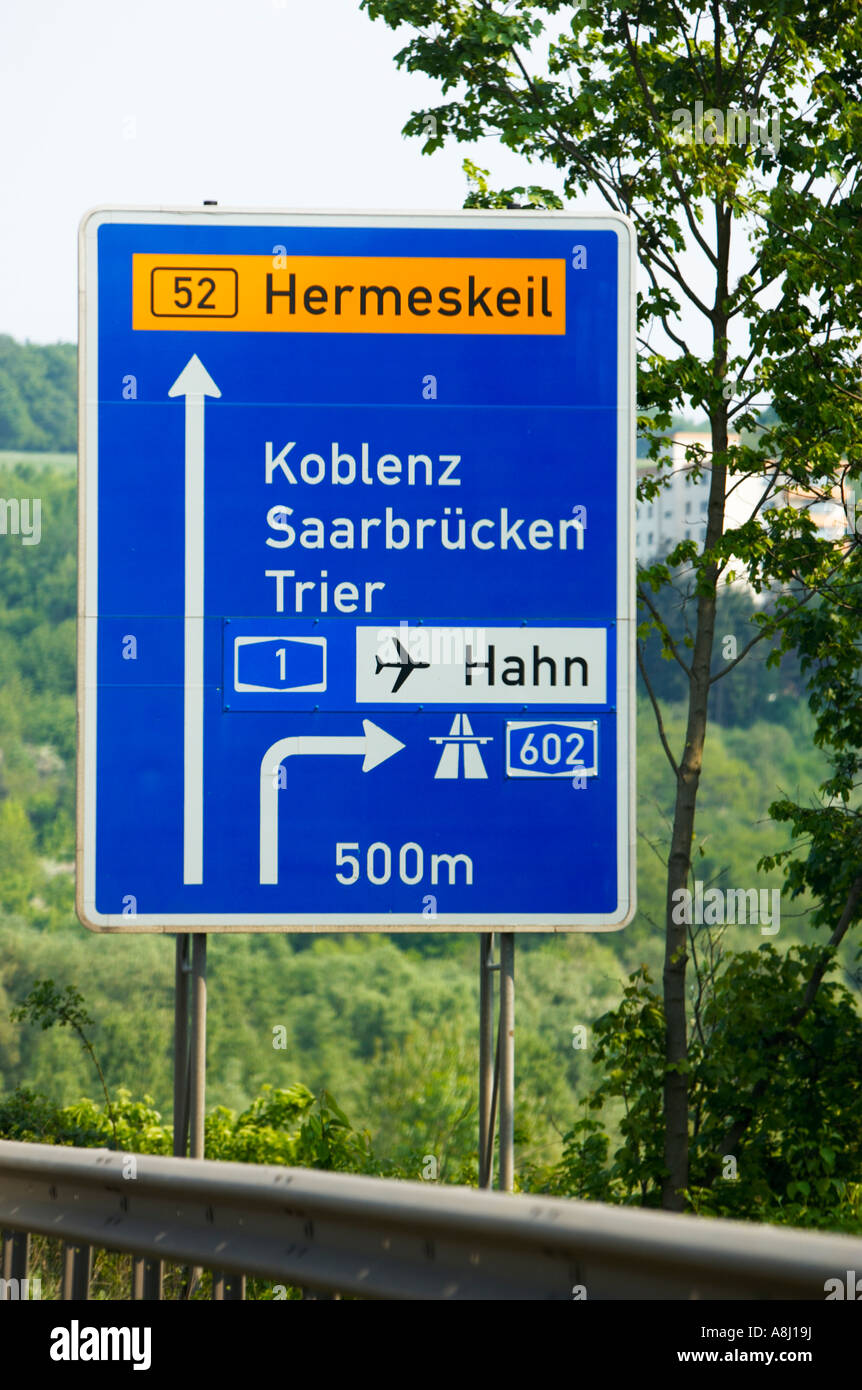 German autobahn direction road signs Germany Europe Stock ... Autobahn Sign