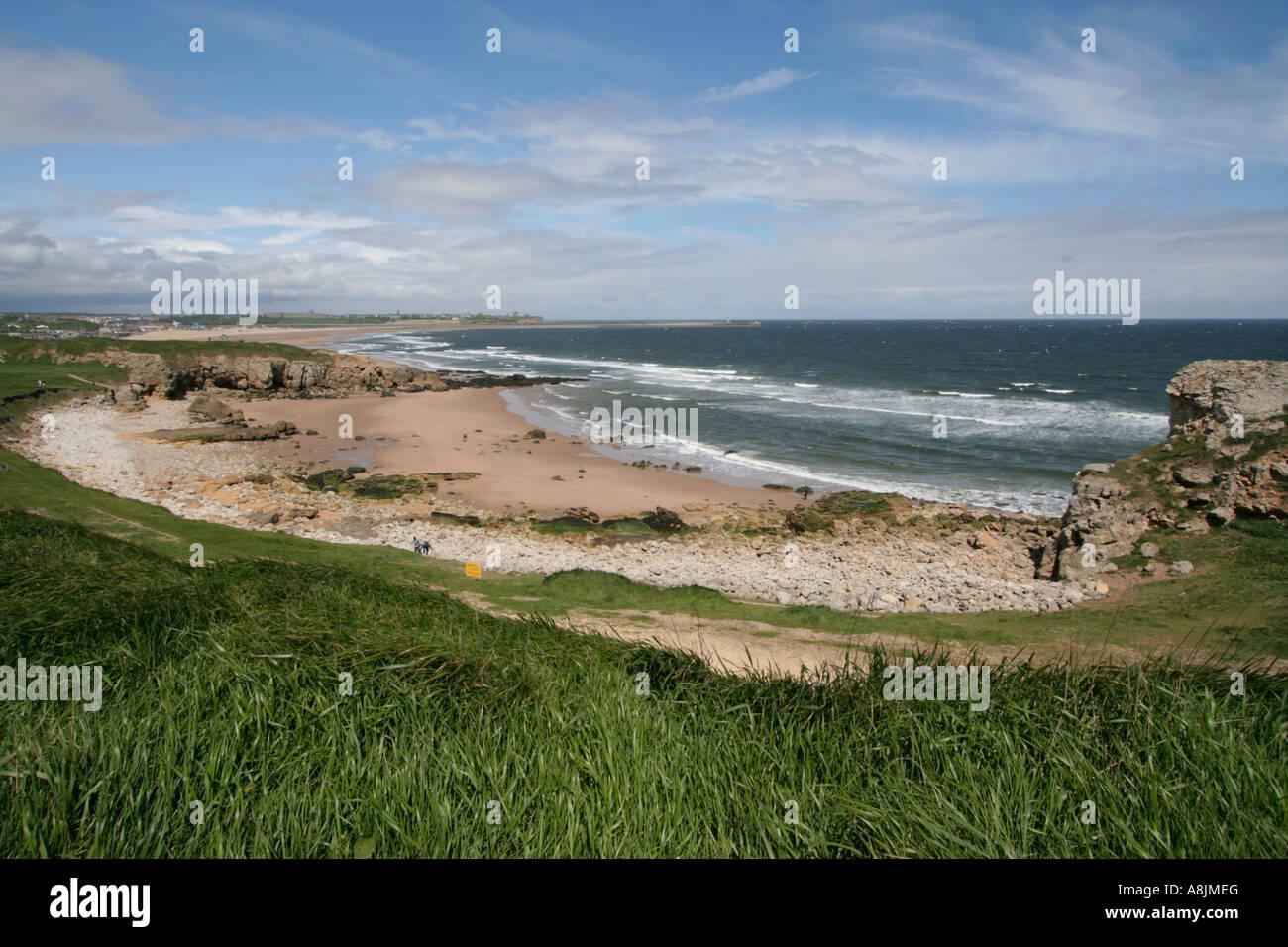 south shields the leas sea erosion tyneside england uk gb ...