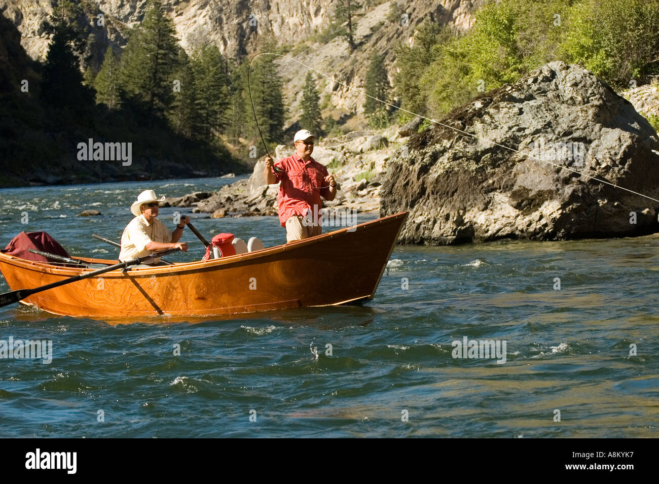 Idaho middle fork of the salmon river fly fishing for for Drift boat fishing