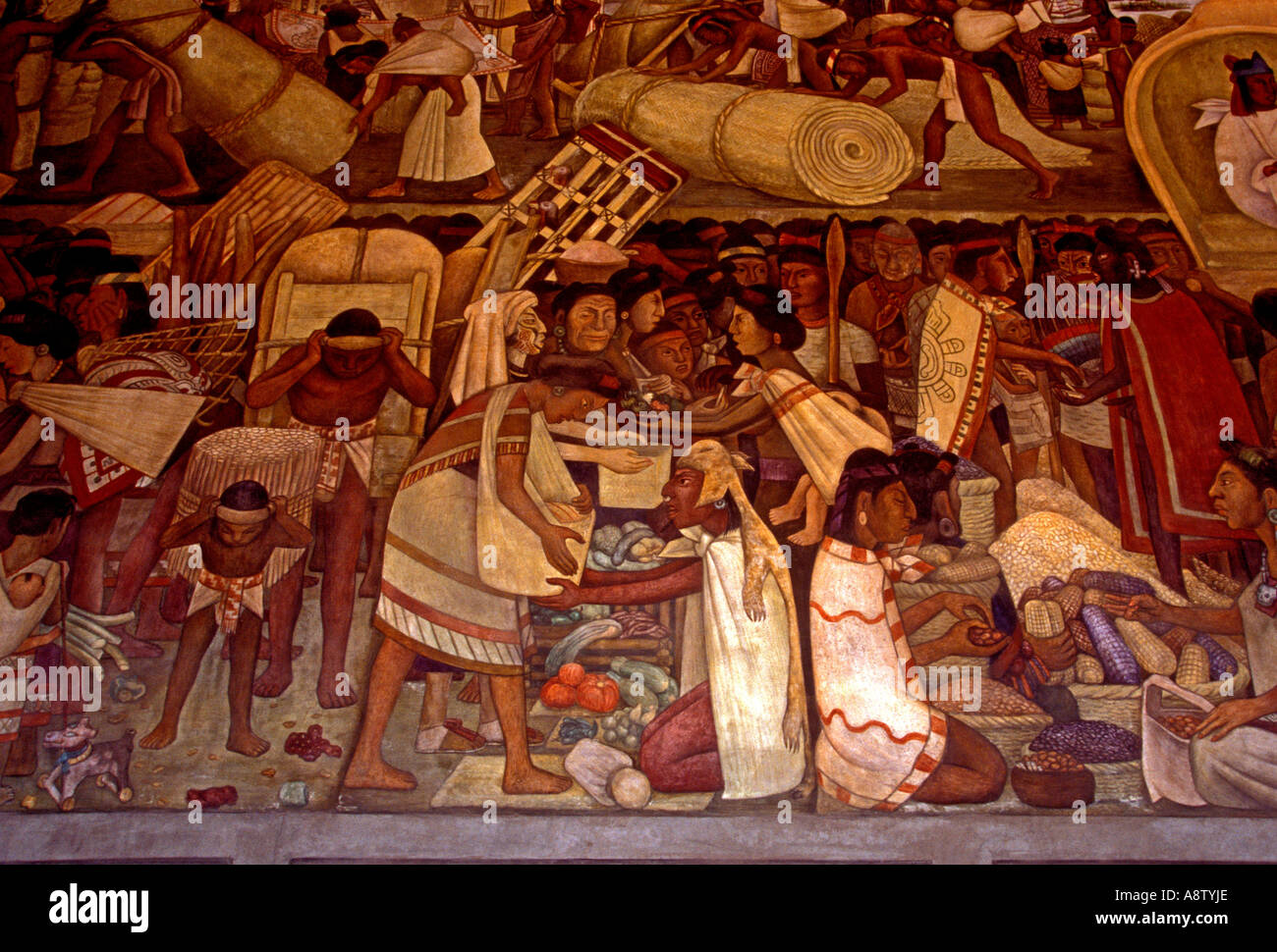 The great tenochtitlan 1945 mural diego rivera for Diego rivera tenochtitlan mural