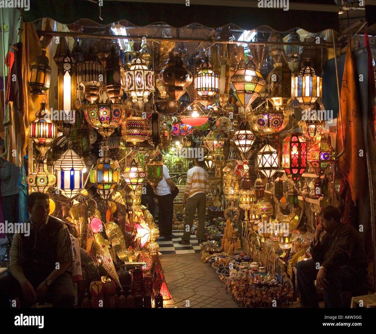 Lamp Shop At Jemaa El Fna Square In Marrakech Morocco