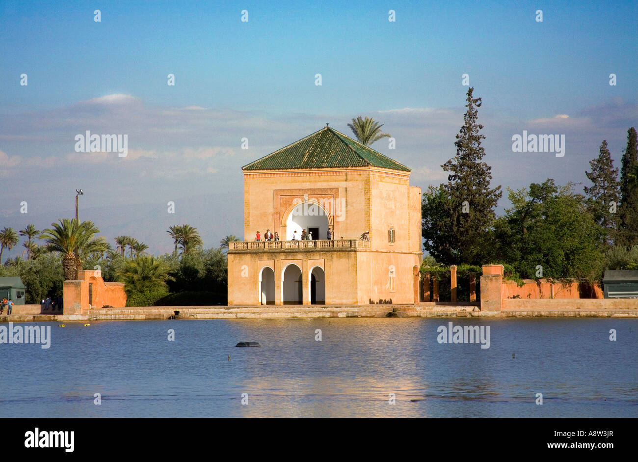 The jardin de la menara in marrakech stock photo royalty for Jardin marrakech
