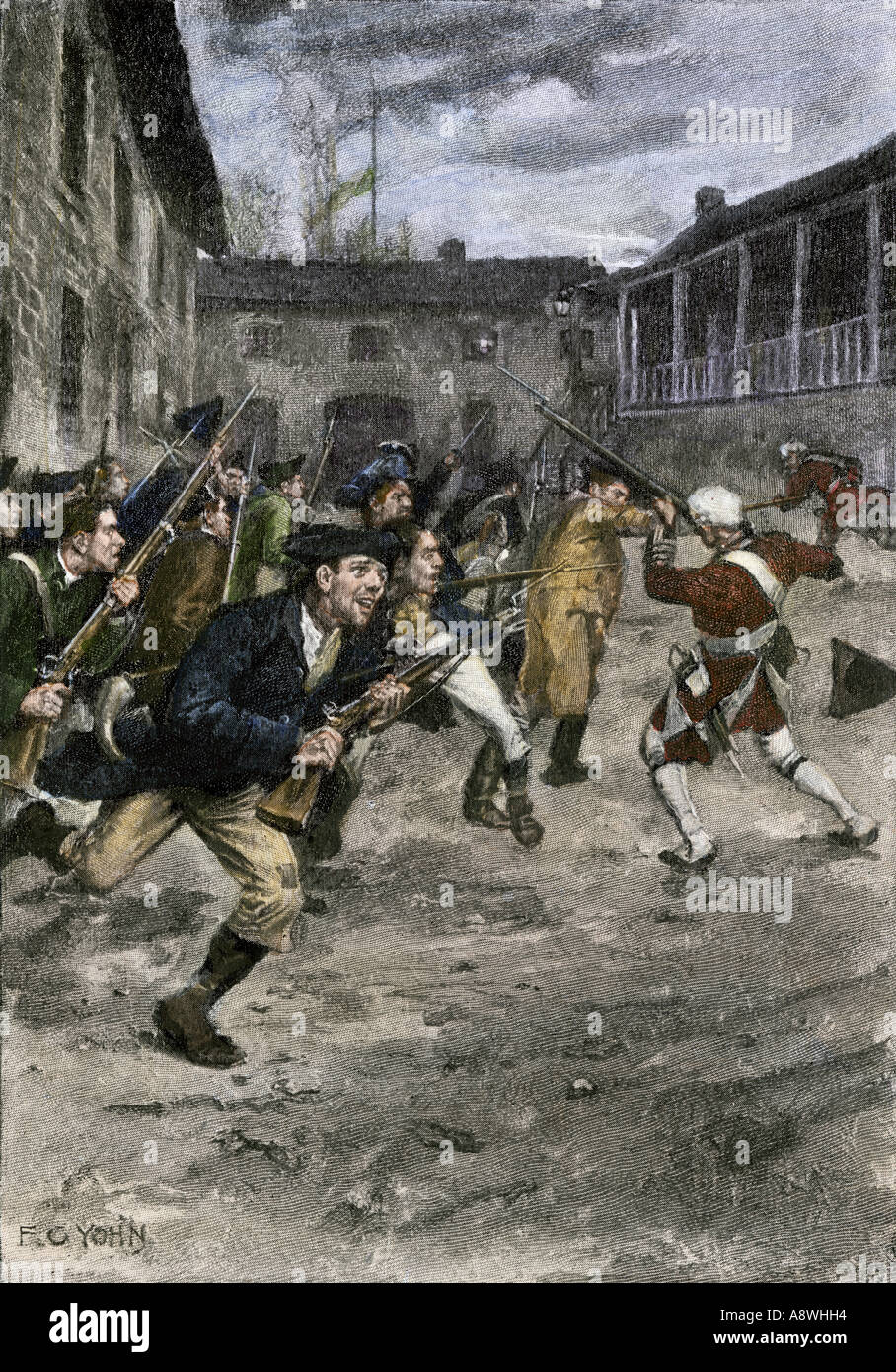 Capture of Fort Ticonderoga by Ethan Allen and the Green Mountain ...