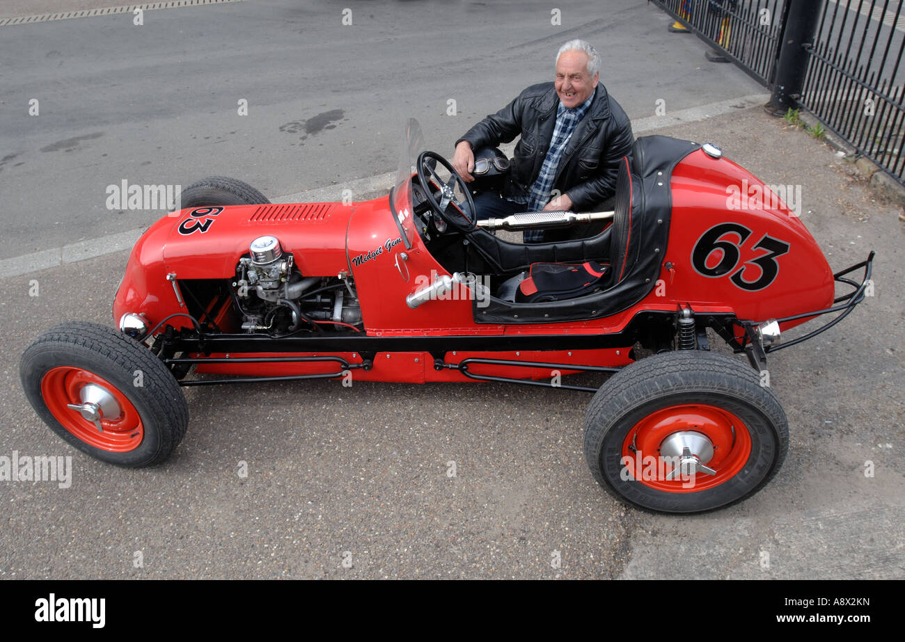 Restored Red American Dirt Track Race Car With Its Owner Reg