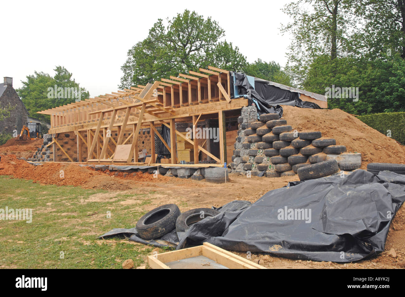 Construction Earthship House Ger Manche France