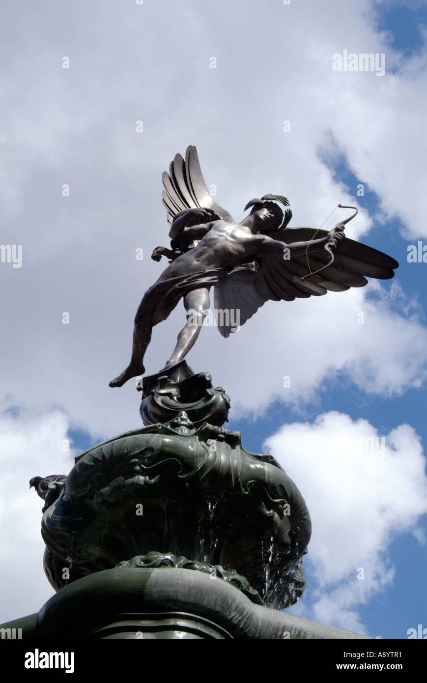 Statue of eros eros the pagan god of love designed in statue of eros eros the pagan god of love designed in the 19th century as a symbol of christian charity pi biocorpaavc Images