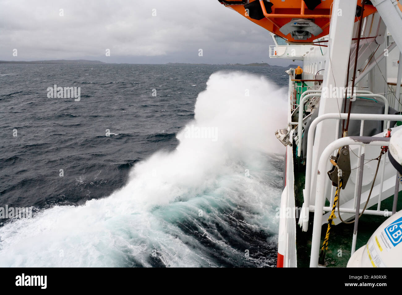 Rough Seas On Board The Hurtigruten Cruise Ship MS Nordlys South - Cruise ship in rough waters