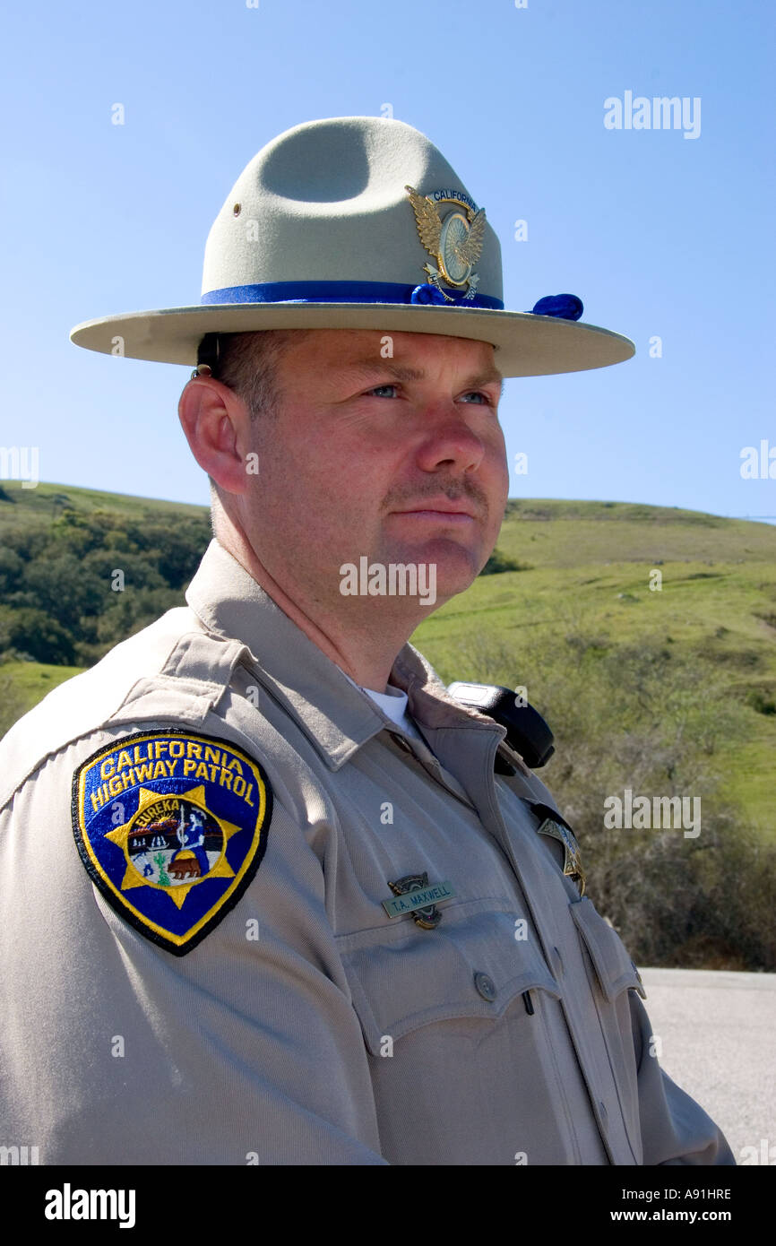 California Highway Patrol Officer Stock Photo Royalty