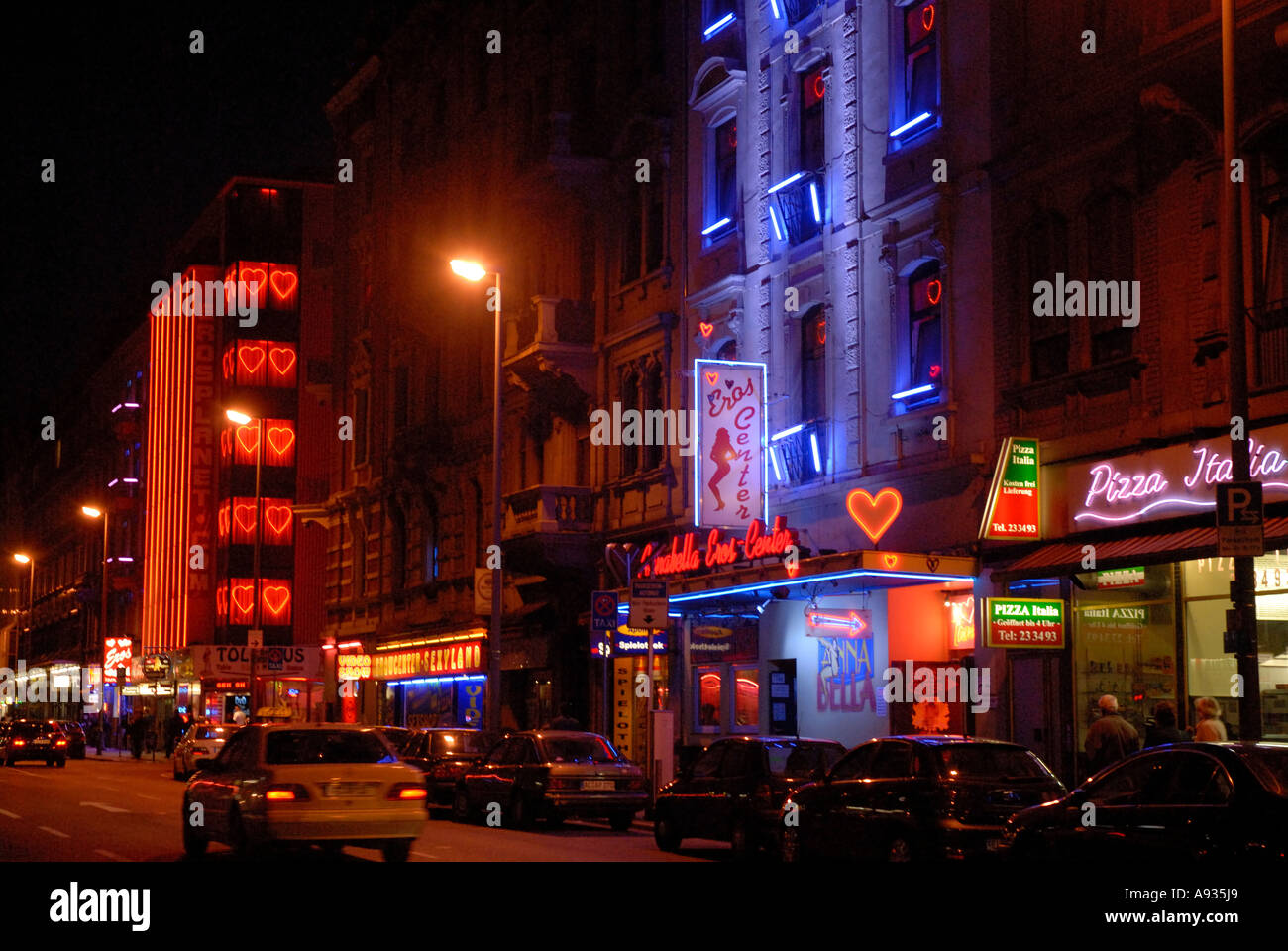 Brothels in Frankfurt red light district Stock Photo