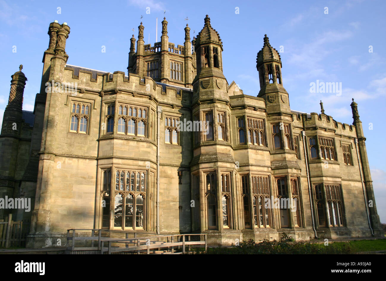 Tudor gothic style victorian mansion house stock photo for Victorian gothic style