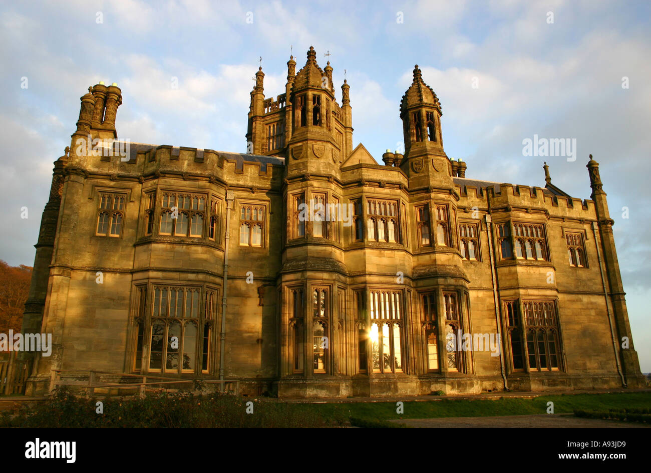 tudor gothic style victorian mansion house stock photo