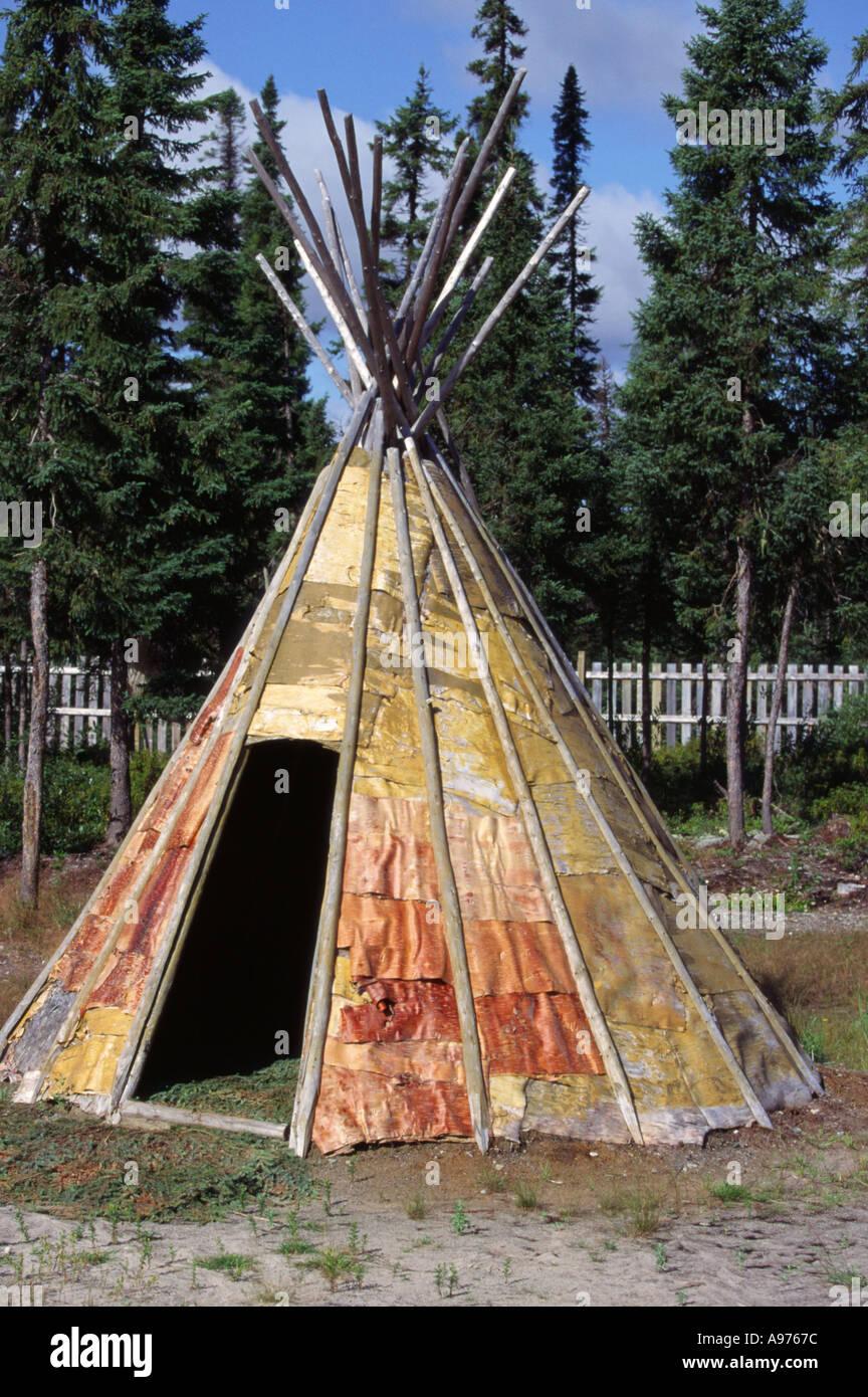 Native tent in Ouje Bougoumou Canada & Native tent in Ouje Bougoumou Canada Stock Photo Royalty Free ...