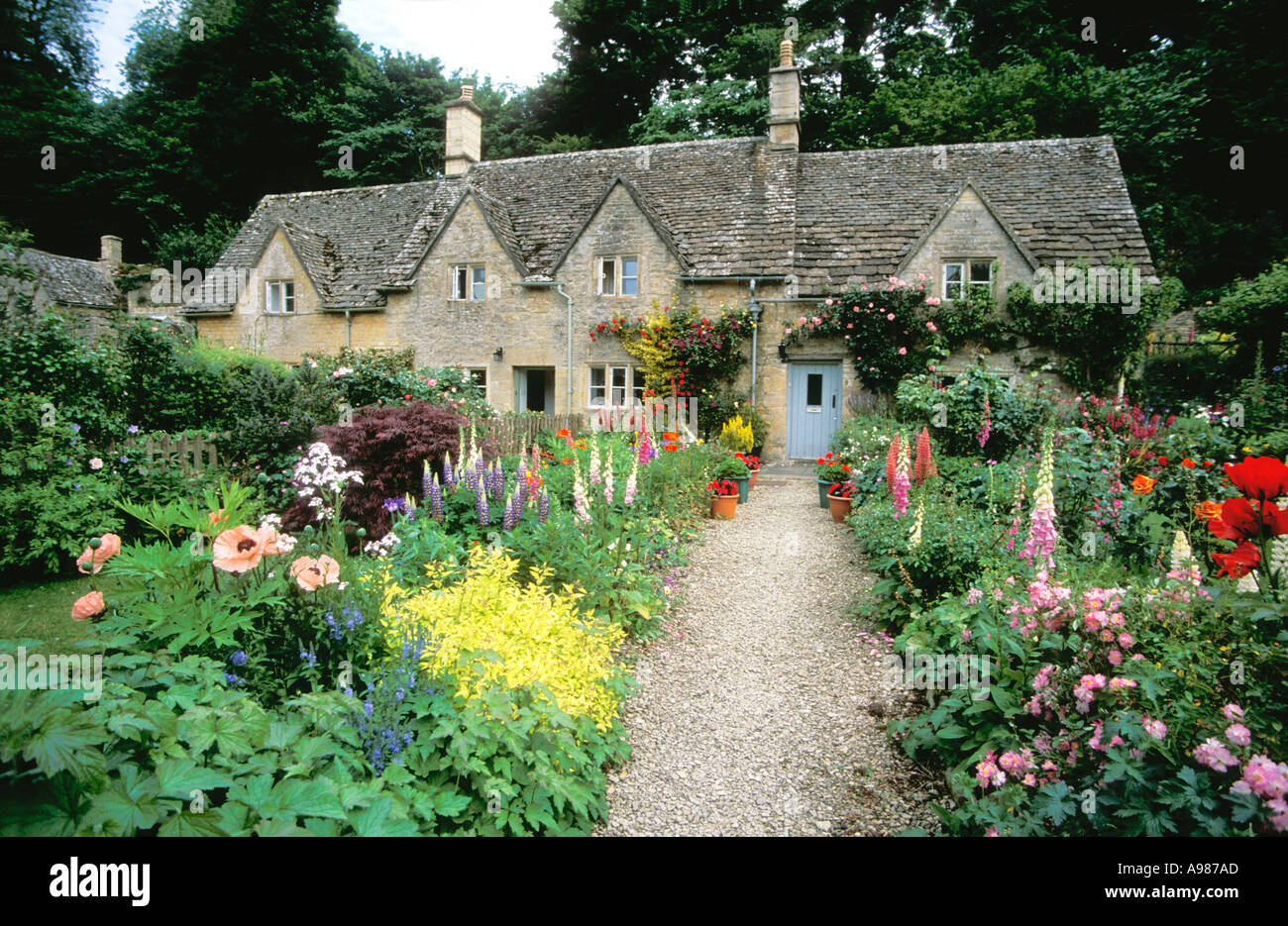 Ancient Cottages And Traditional English Cottage Gardens
