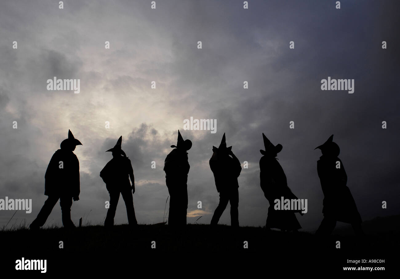 Halloween revellers celebrate the Pagan new year and Celtic ...