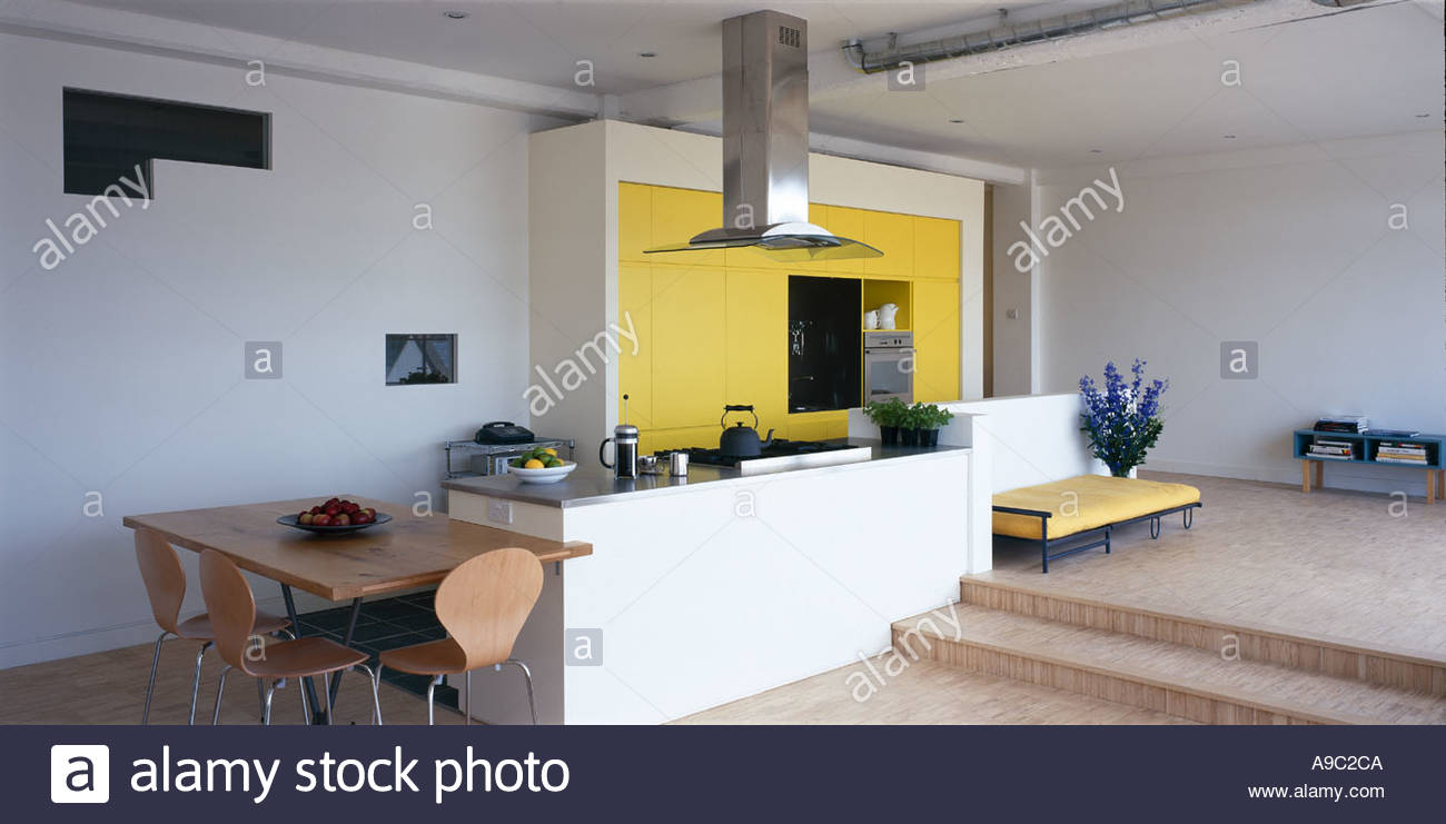 Yellow And White Kitchen Warehouse Style Apartment With Yellow And White Kitchen Architect