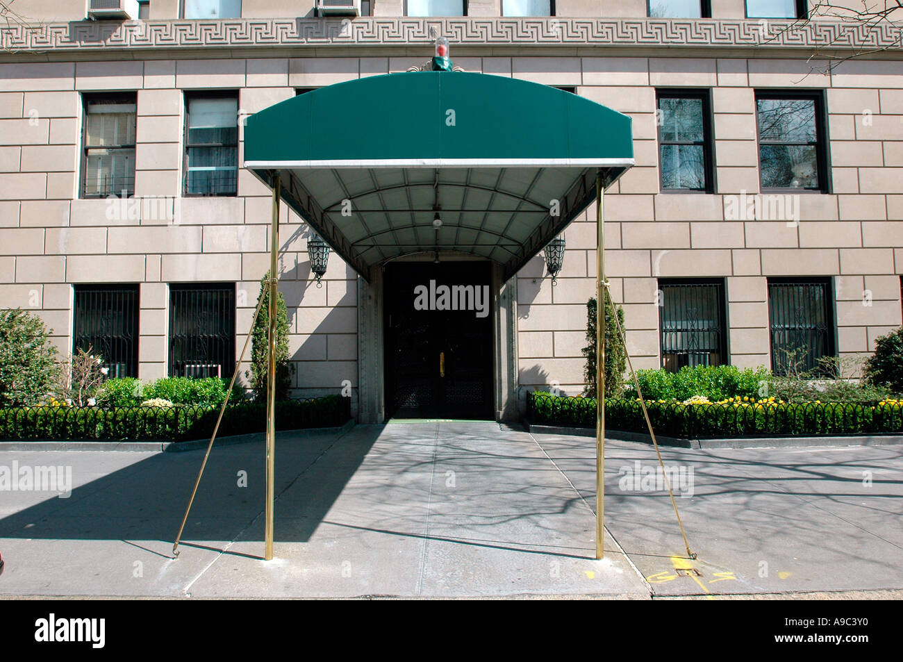 Apartment Building Entrance ritzy apartment building entrance in nyc stock photo, royalty free